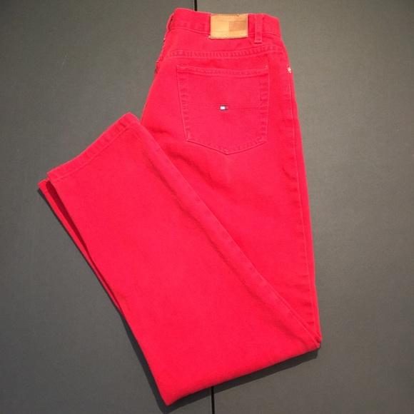 elemento regla manual  Tommy Hilfiger Jeans   Red Tommy Hilfiger Skinny Jeans Womens Size 8    Poshmark